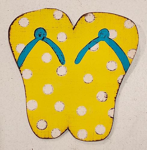 Yellow Flip Flop