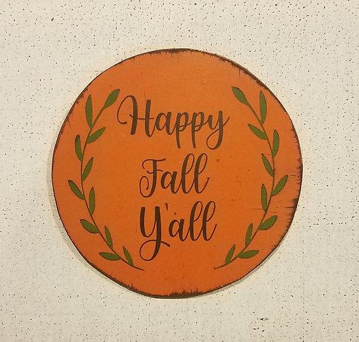 Happy Fall Y'all Orange