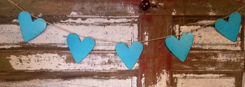 Turquoise Hearts