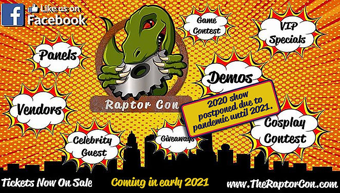 Raptor Con NEW DATE-postoned-until-2021.