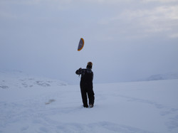 Evening kiting on Sdr. Stromfjord