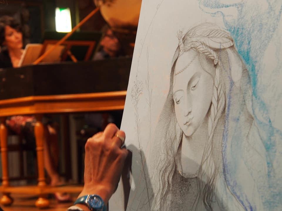 Daniela Rizzo disegna dal vivo