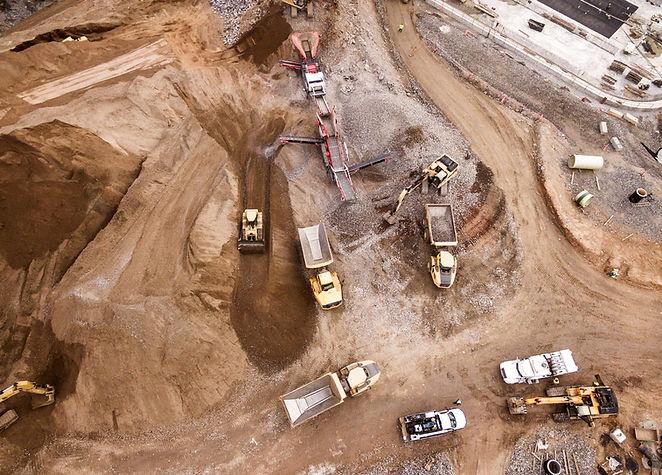 Chantier de construction de terre