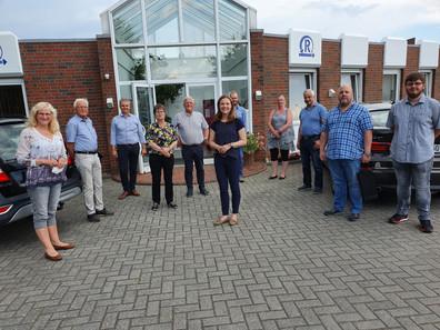 Wirtschaftskraft in Sande: Besichtigung Automaten Roesler GmbH