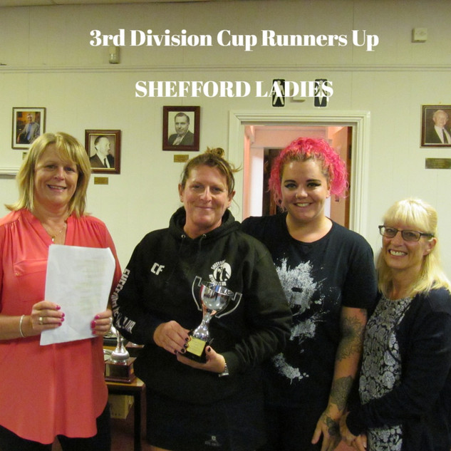 3rd Division Cup Runners Up