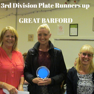 3rd Div Plate Runners Up