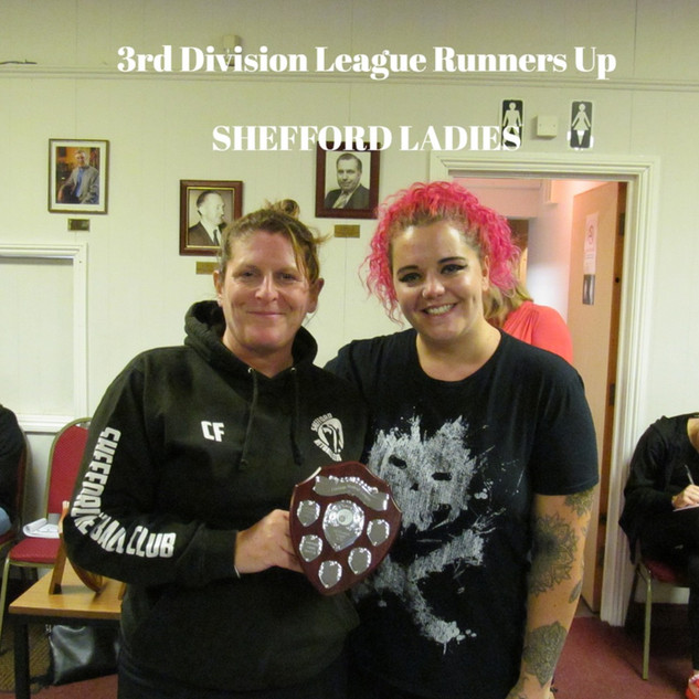 3RD DIVISION LEAGUE RUNNERS UP