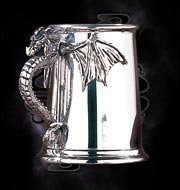 AAT10 Silver Pewter Dragon Tankard