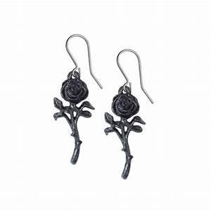 E421 The Romance of the Black Stone Earrings