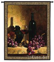 """2197 Wine Bottle with Grapes & Walnuts 53""""x59"""""""