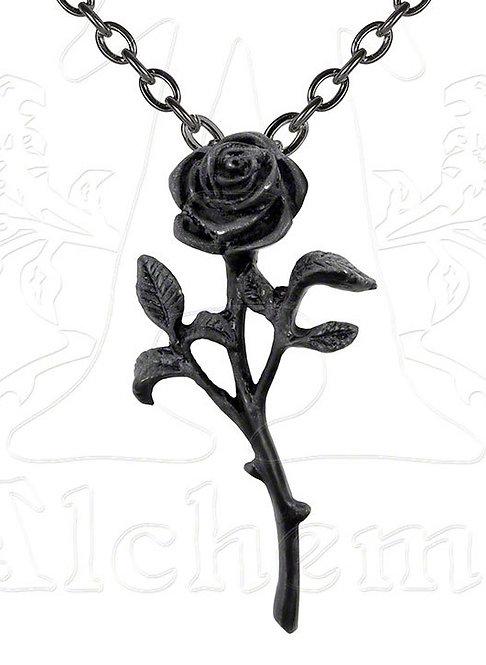 P695 Black Rose Pendant
