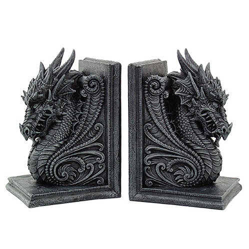 8266 Dragon Bookends