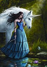 "AN33 ""Contemplation Unicorne"" Card"