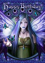 """AN52 """"Mystic Aura"""" Birthday Wishes Card"""