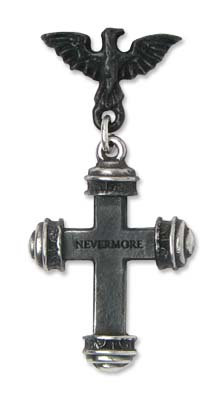 Alchemy of England E284 Nevermore Cross Single earring