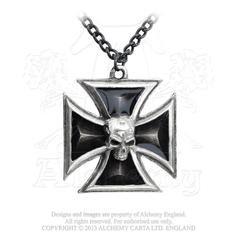 Alchemy of England P617 Black Knight Cross pendant w/chain