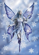 "AN10 ""Snowflake Fairy""  Yule Card"