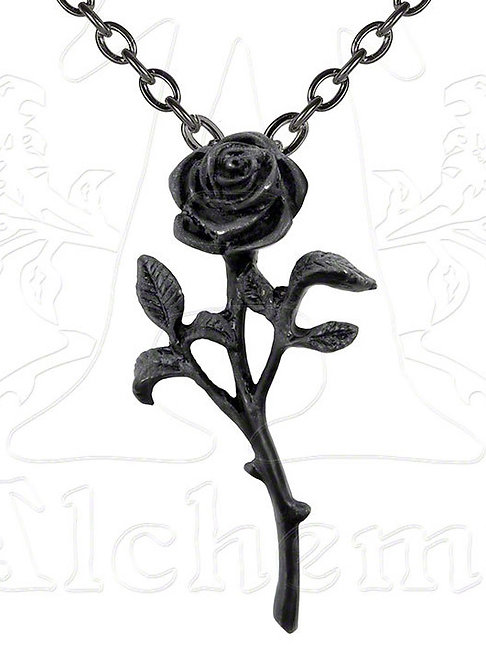 Alchemy of England P695 Romance of the Black Rose pendant w/chain