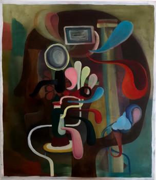 Machine head, 2020, Oil on canvas, 80 x 70 cm
