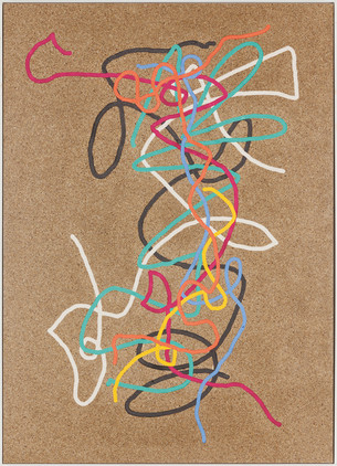 p.o.t.d.8 (squiggles with burgunder), 2014