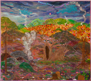 Dying Baobab, 2015–19, Oil and acrylic on canvas, 179 × 200 cm