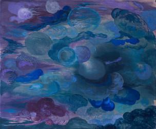 Atmo, 2019/2020, Oil and acrylic on canvas, 50 x 60 cm
