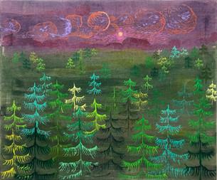 20 Jahre nach Lothar, 2019/2020, Oil and acrylic on canvas, 55 x 66 cm