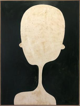 Bighead, 2019, Oil paint on processed plasterboard, 127 x 92 cm