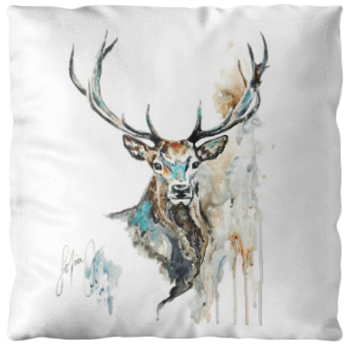 """Coussin """"Cerf"""" texture velours, 3 tailles"""