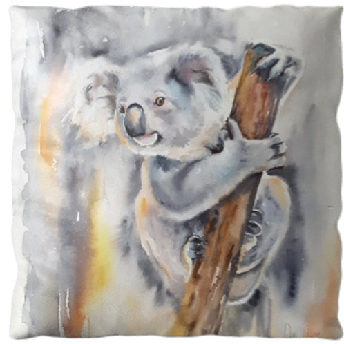 "Coussin ""Koala"" texture velours, 3 tailles"