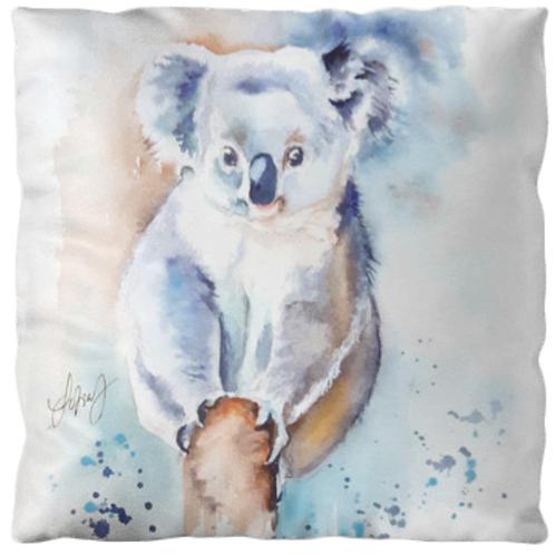 "Coussin ""Koala 2"" texture ""velours"", 3 tailles"