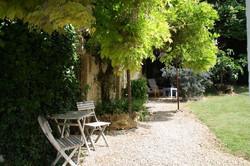 La Glycine, terrasse