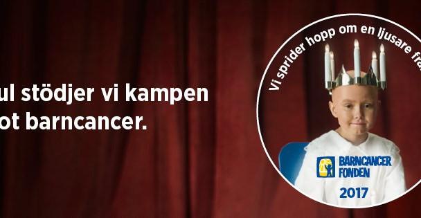 I Jul stödjer vi kampen mot cancer