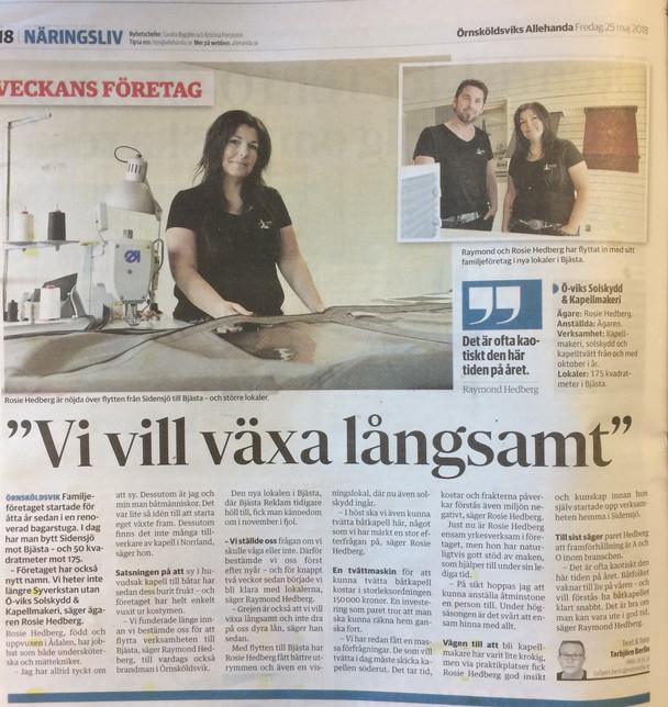Reportage om oss i lokala tidningen!