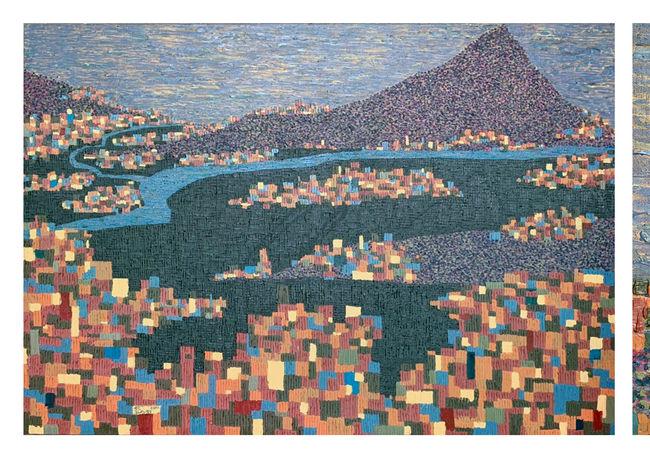 觀音山  H:112cm x W:162cm  油畫