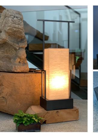 提燈  H:62cm x W:15cm x L:20cm  金屬+燈罩