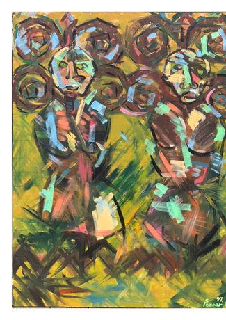原始  H:120cm x W:90cm  油畫