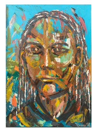 自畫像  H:116cm x W:80cm  油畫