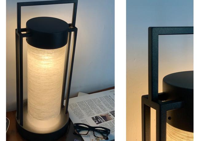 圓燈  H:51cm x 直徑 20cm  金屬+燈罩