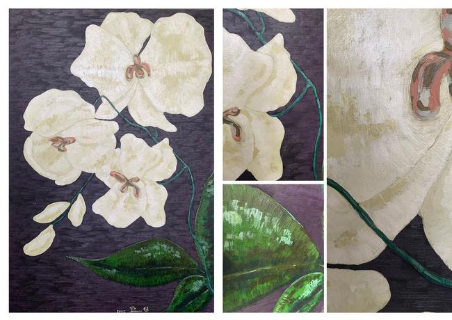 花  H:150cm x W:100cm  油畫