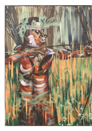 狩獵  H:65cm x W:53cm  油畫