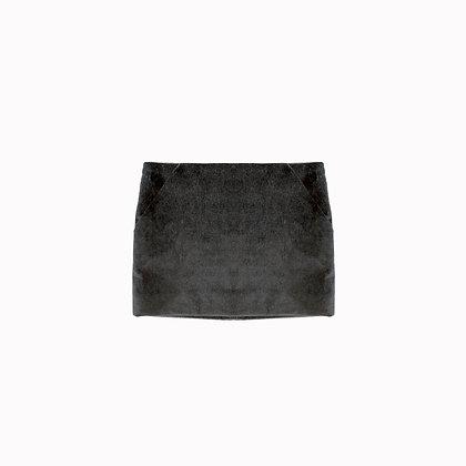 Mini jupe noire velours NAXOS