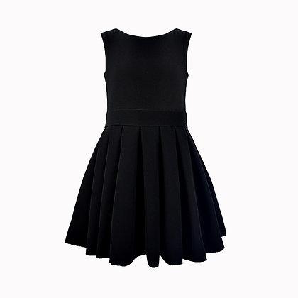 Robe plissée noire HOLLY