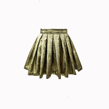 Jupe plissée dorée MAGIC