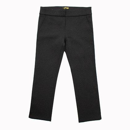 Pantalon noir motifs tramés ASCLEPIOS