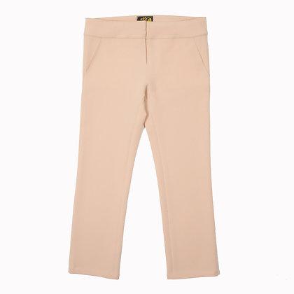 Pantalon gabardine rose pâle stretch ASCLEPIOS