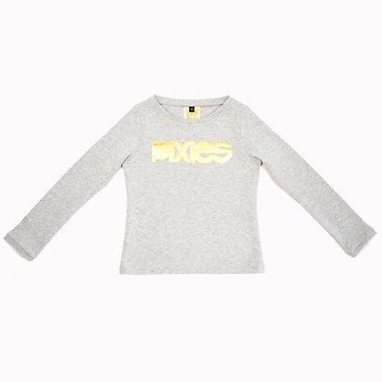 T-Shirt PIXIES coton bio gris EOS