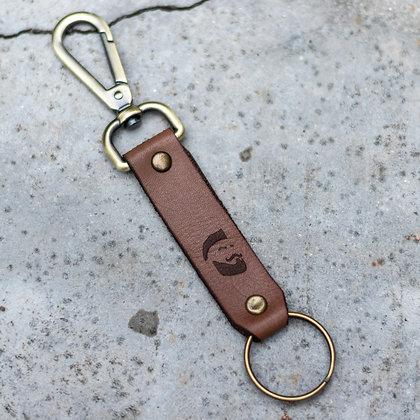 Porte-clés en cuir skull