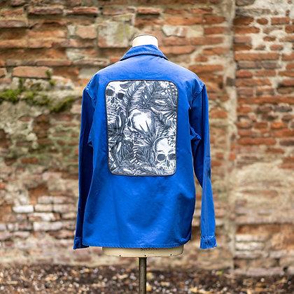 Veste bleu de travail imprimé skull