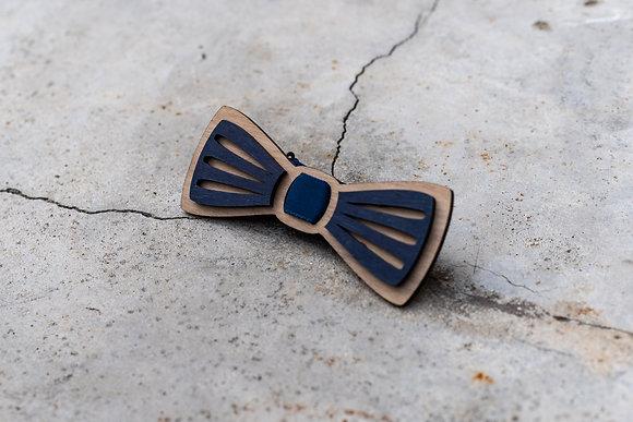 """Noeud papillon en bois """"moustache"""""""